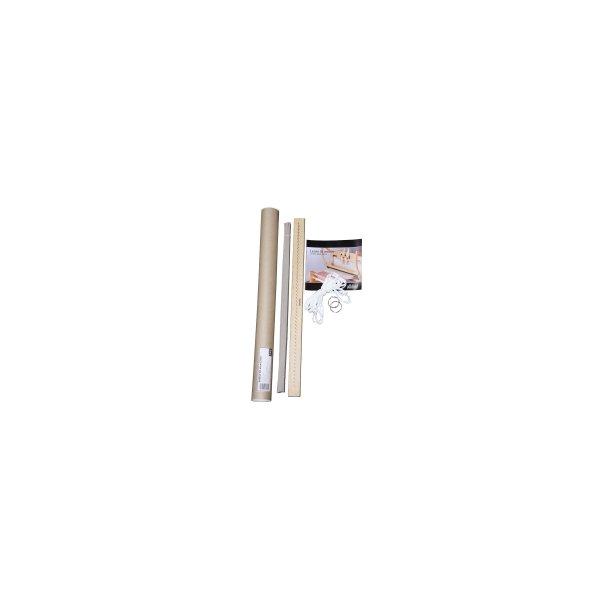 Redekam, 40 cm. med stålsøm pr. 12,5 mm.. Lakeret