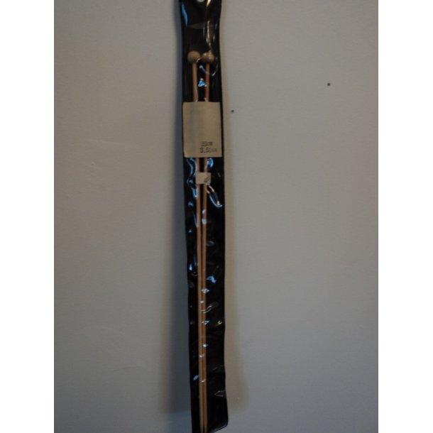 Bambusstrikkepinde nr. 3½. To stk. 33 cm.