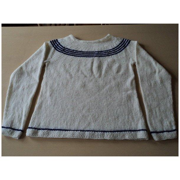 Strikkeopskrift til dame sweater, medium