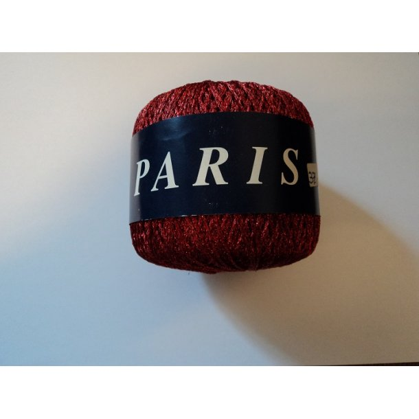 Paris, Farve Rød. 60% cupro / 40% polyester. 20g. SÅ LÆNGE LAGER HAVES!