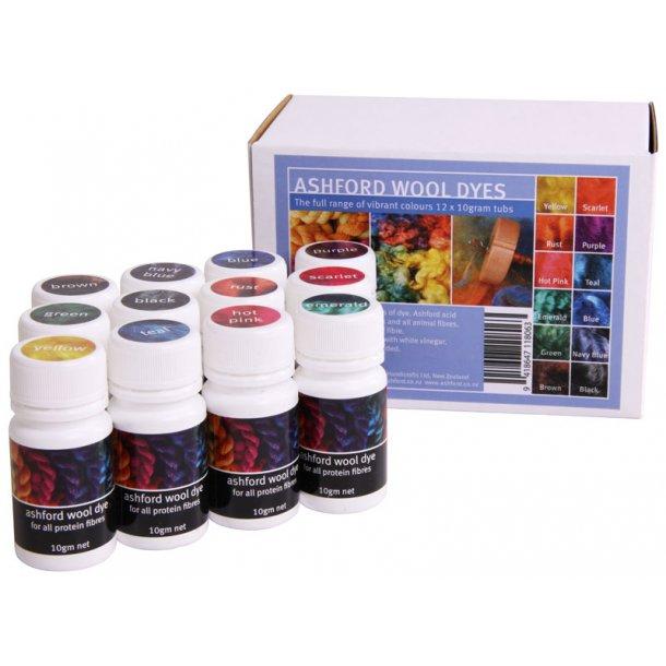 Farver. 010 g. Vælg mellem 12 forskellige farver