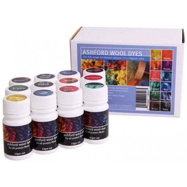 Farver. 250 g. Vælg mellem 12 forskellige farver