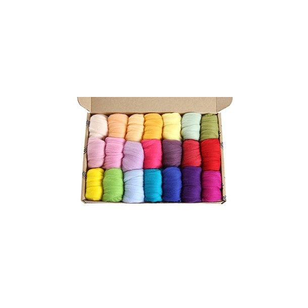 Prøvepakke. Lyse farver i Merino. 850 gr. Normal leveringstid 2 - 3 uger.