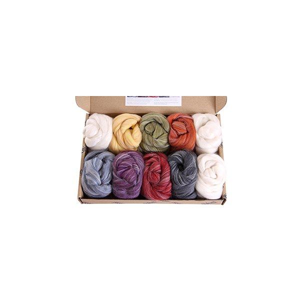 Prøvepakke. Farver i Alpaca/Merino. 850 gr. Normal leveringstid 2 - 3 uger.