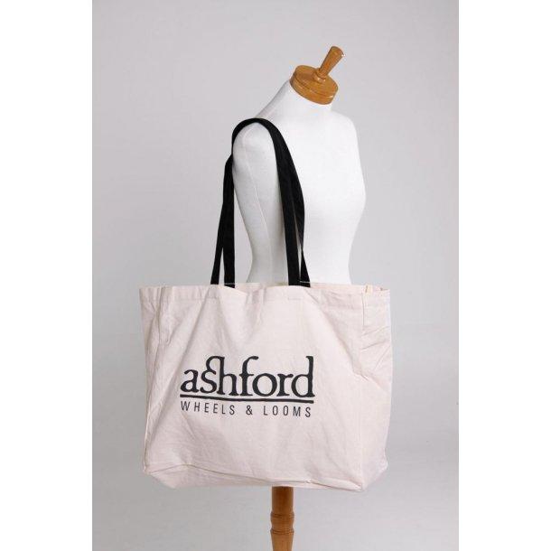 Ashford bærepose. Naturfarvet bomuld canvas