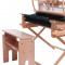 Vævebænk med indstillelig siddehøjde og sæde, der kan vippes. 2018 model.