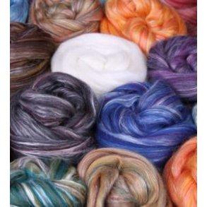 Merino/Silke. Flerfarvet